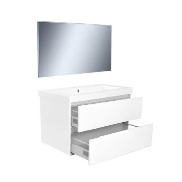 Wiesbaden Vision meubelset met spiegel 80 cm, wit
