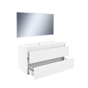 Wiesbaden Vision meubelset met spiegel 100 cm, wit