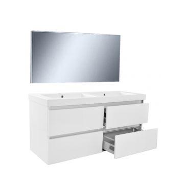 Wiesbaden Vision meubelset met spiegel 120 cm, wit