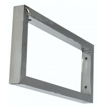 Sub chroom vierkante supportbeugel 46x22