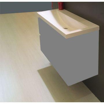 Wiesbaden wastafel zonder kraangat 100x36 cm, wit