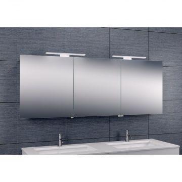 Wiesbaden Luxe spiegelkast met LED-verlichting 60 x 160 x 14 cm, aluminium