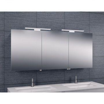 Wiesbaden Luxe spiegelkast met LED-verlichting 60 x 140 x 14 cm, aluminium
