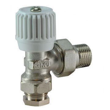"""Riko radiatorventiel met adapter 1/2"""" x 15 mm haaks"""