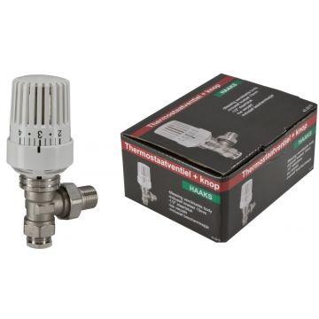 """Riko Parts thermostatisch radiatorventiel 1/2"""" x 15 mm haaks, wit"""