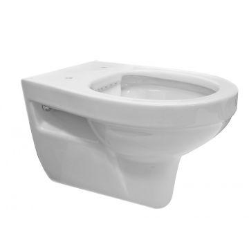 Wiesbaden Trevi rimless hangend toilet diepspoel, wit