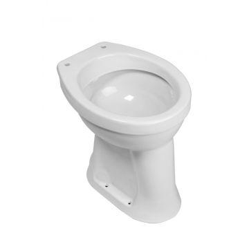 Wiesbaden staand toilet vlakspoel AO verhoogd, wit