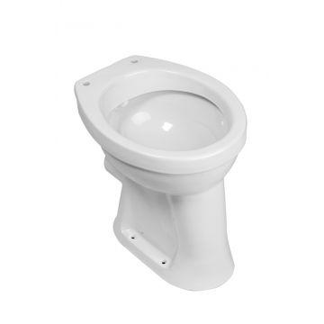 Wiesbaden staand toilet vlakspoel PK verhoogd, wit