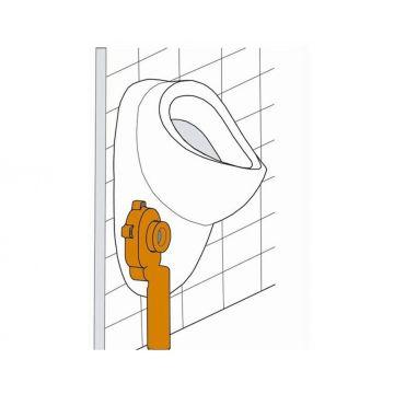 Sub urinoir-sifon afvoer verticaal