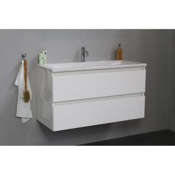 Sub Online wastafelset met 1 kraangat (bxlxh) 100x46x55 cm, hoogglans wit / glans wit