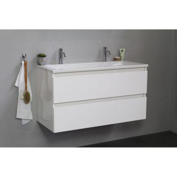 Sub Online wastafelset met 2 kraangaten (bxlxh) 100x46x55 cm, hoogglans wit / glans wit