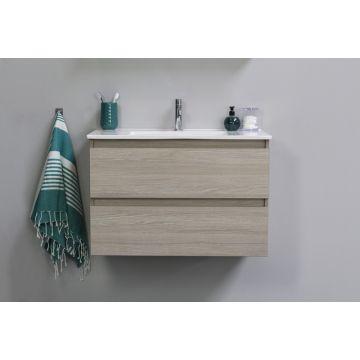 Sub Top onderkast met 2 laden greeploos houtdecor 120x46x52 cm, grey oak