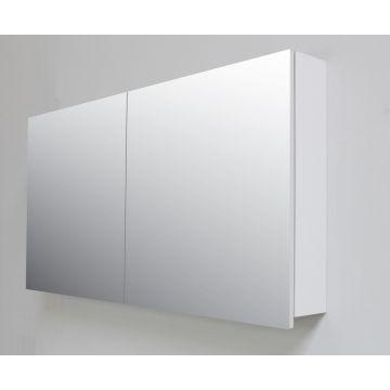 Sub Online spiegelkast met 2 deuren en binnenspiegel 117x60x14 cm, grijs