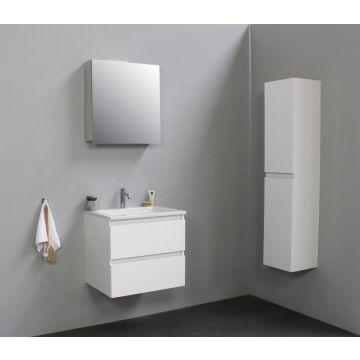 Sub Online wastafelset met 1 kraangat met spiegelkast (bxlxh) 60x46x55 cm, hoogglans wit