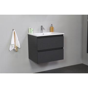 Sub Online wastafelset met 1 kraangat (bxlxh) 60x46x55 cm, mat antraciet / glans wit