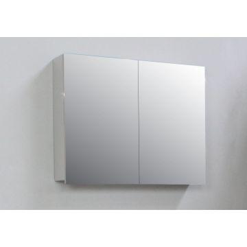 Sub Online spiegelkast met 2 deuren en binnenspiegel 77x60x14 cm, grijs