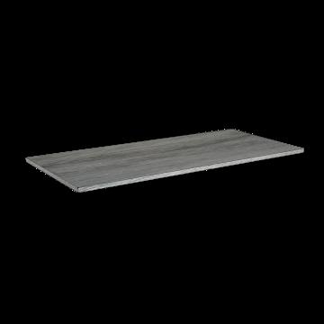 Sub Liem afdekplaat houtdecor 100x45x1,6 cm, zilver eiken