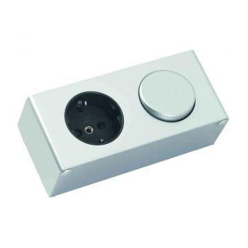 Sub Online schakelaar/stopcontact voor de spiegelkast, aluminium