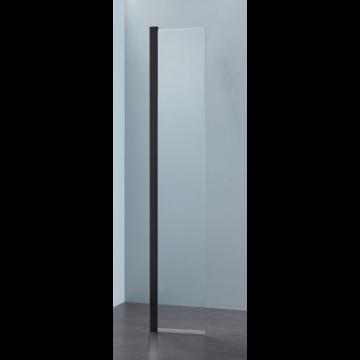 Sub 066 draaideel voor walk-in 35x200 cm., zwart mat-helder
