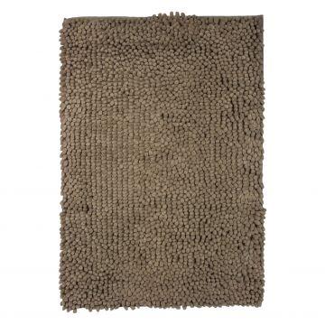 Differnz Chenille Shaggy badmat 60x90cm, taupe