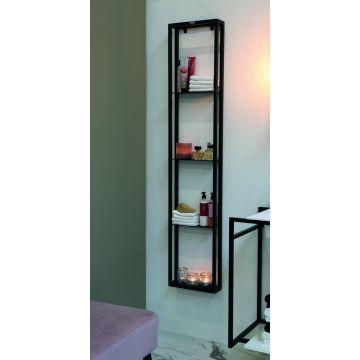 Riverdale stalen frame vrij op te hangen, 163x32x10 cm, mat zwart