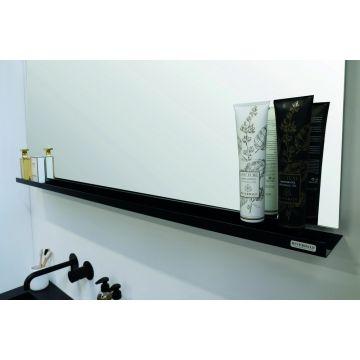 Riverdale stalen planchet t.b.v. rechthoekige spiegel 120x10 cm, mat zwart