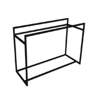 Riverdale stalen frame t.b.v. wastafel, onderkast afdekplaat en designplateau 120x70x45 cm, mat zwart
