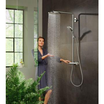 Hansgrohe Raindance Select S showerpipe 240 1jet PowderRain met Ecostat Comfort-thermostaat, chroom