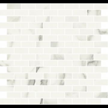 Sub 1737 tegelmat 30x30 cm, brick 1,8x4,2 cm, essential white