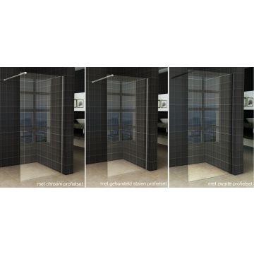 Wiesbaden Slim inloopdouche zonder profiel 50x200 cm 8 mm NANO-glas