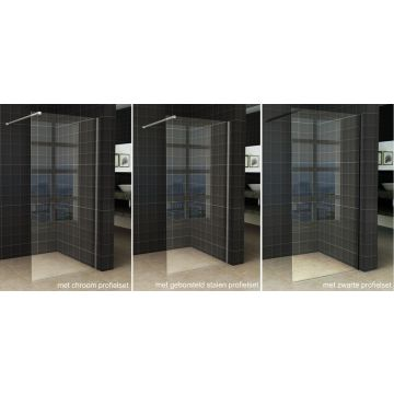 Wiesbaden Slim inloopdouche zonder profiel 80x200 cm 8 mm NANO-glas