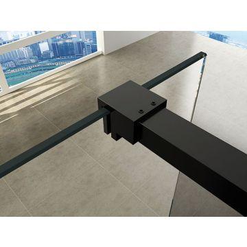 Wiesbaden Slim profielset met stabilisatiestang 120 cm, mat zwart