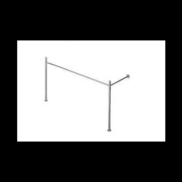 Duravit Vero metalen console voor wastafel, chroom 10