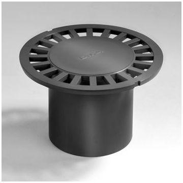 Wavin putrooster met ronde gaten, kunststof, grijs, (bxl) 135x135mm