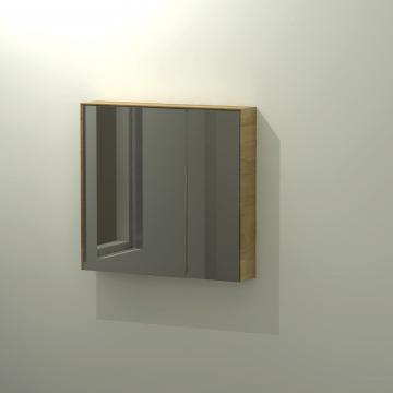 Sub 416 spiegelkast 75x70 cm, eiken naturel