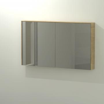 Sub 416 spiegelkast 120x70 cm, eiken naturel