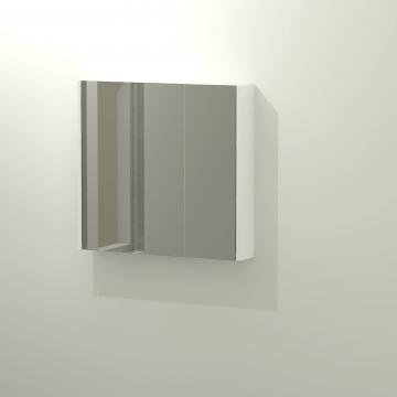 Sub 436 spiegelkast 75x70 cm, mat wit