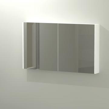 Sub 436 spiegelkast 120x70 cm, mat wit