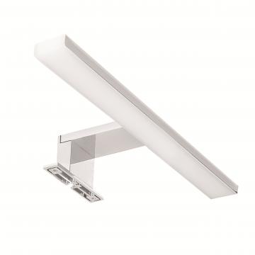 Sub Spiegellamp met LED-verlichting warm met geïntegreerde trafo 30 cm, chroom wit