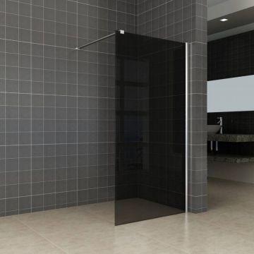 Wiesbaden Slim inloopdouche zonder profiel 100x200 cm, zwart