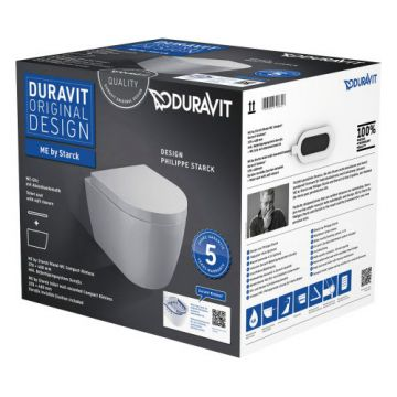 Duravit Me by Starck wandcloset compact pack met softclose zitting, wit