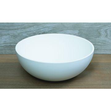 Luca Sanitair Luva ronde opzetwastafel met dunne rand van solid surface 40 x 40 x 15,5 cm, mat wit