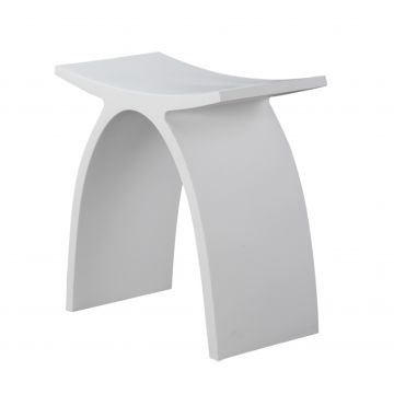Luca sanitair Luva badkamerkrukje van solid surface 42 x 23 x 43 cm, mat wit