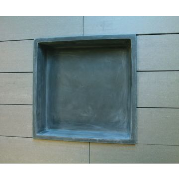 Luca Sanitair Luva inbouwnis/opbouwnis van stone resin 29,5 x 29,5 x 8 cm, mat antraciet