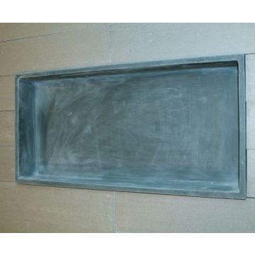 Luca Sanitair Luva inbouwnis/opbouwnis van stone resin 59,5 x 29,5 x 8 cm, mat antraciet