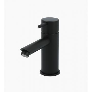 Hotbath Cobber 1-hendel wastafelmengkraan 14,3 cm hoog met rechte uitloop van 11 cm, mat zwart