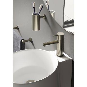 Hotbath Cobber 1-hendel wastafelmengkraan 14,3 cm hoog met rechte uitloop van 11 cm, chroom