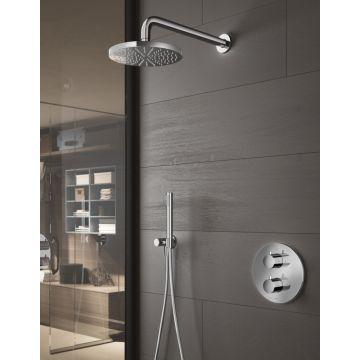 Hotbath Get Together thermostatische regendouche-inbouwset met 2-weg-omstel inclusief handdouche, chroom