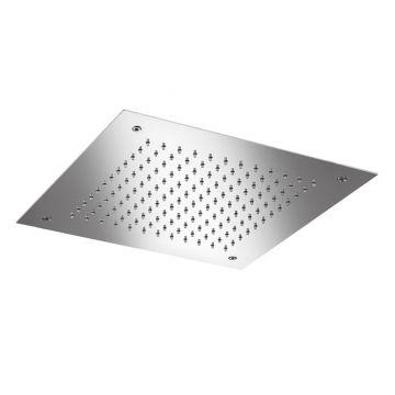 Hotbath Mate inbouw hoofddouche vierkant 38 cm, geborsteld nikkel