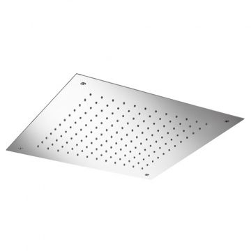 Hotbath Mate inbouw hoofddouche vierkant 50 cm, geborsteld nikkel